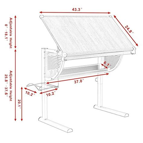 Tangkula Drafting Table Drawing Desk Adjustable Art Where To Buy A Drafting Table
