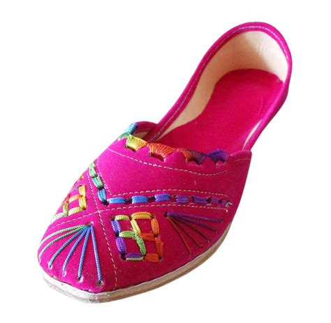 Handmade Designer Shoes - us 9 5 12 designer leather shoes pink juti indian