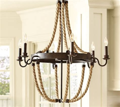 Rope Chandelier Pottery Barn griffin rope chandelier pottery barn