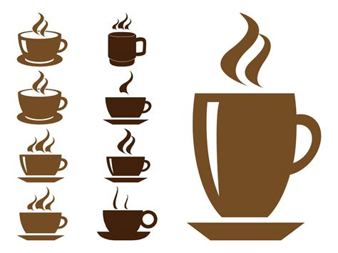 coffee cup silhouette coffee cups graphics free vectors ui download