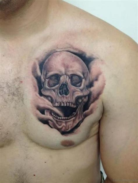 realistic skull tattoos 70 stunning skull tattoos on chest