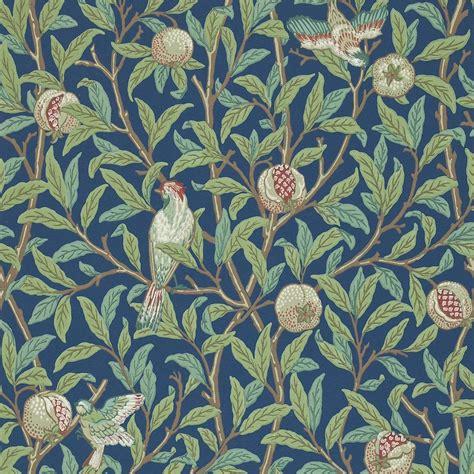 wallpaper design by william morris bird pomegranate wallpaper blue sage 212540