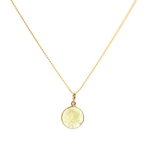 buy elizabeth raine solar plexus chakra pendant necklace