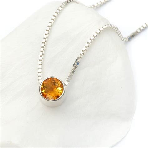 november birthstone citrine necklace november birthstone by lilia nash