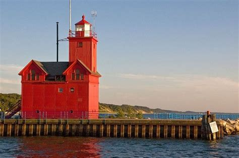 Harbor Light Mi by Harbor Lighthouse Michigan Great Lakes