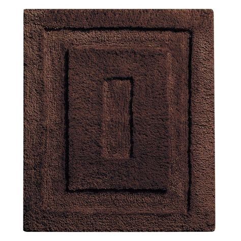 Small Rugs For Bathroom Interdesign 21 In X 17 In Spa Small Bath Rug In Chocolate 17039 The Home Depot