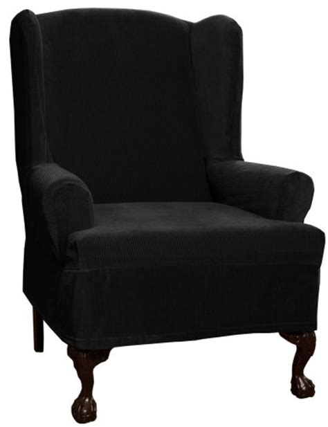 black wing chair slipcover wingback chair