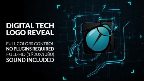 After Effects Technology Template digital tech logo reveal technology after effects templates f5 design