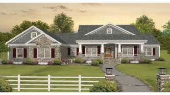 One Story Ranch Style House Plans by Craftsman One Story Ranch House Plans One Story Craftsman