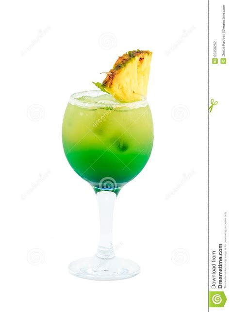 green cocktail black background yellow green cocktail isolated on white background stock