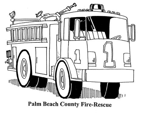 Fire Truck Coloring Pages Firetruck Coloring Page