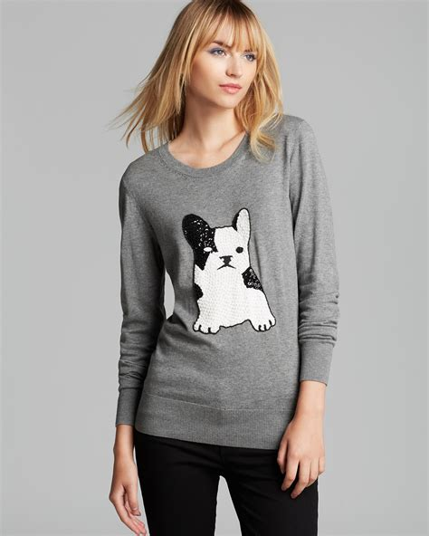 Sweater Buldog Putih 1 connection sweater bulldog sequin bloomingdale s