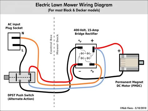 electric lawn mower wiring diagram wiring forums