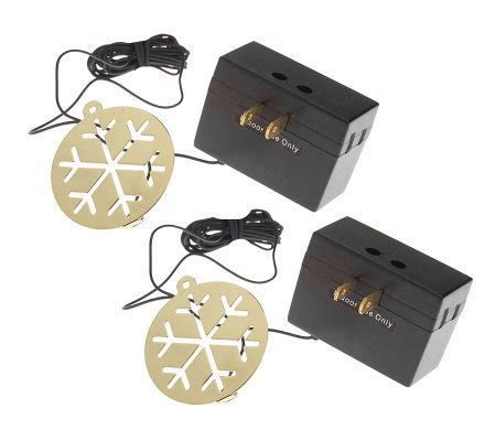 set of 2 brass snowflake christmas tree ornament light dimmers page 1 qvc com
