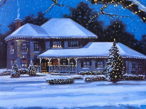 Best Christmas Decorated Homes by Winter Wallpapers Winter Wallpaper 2768487 Fanpop