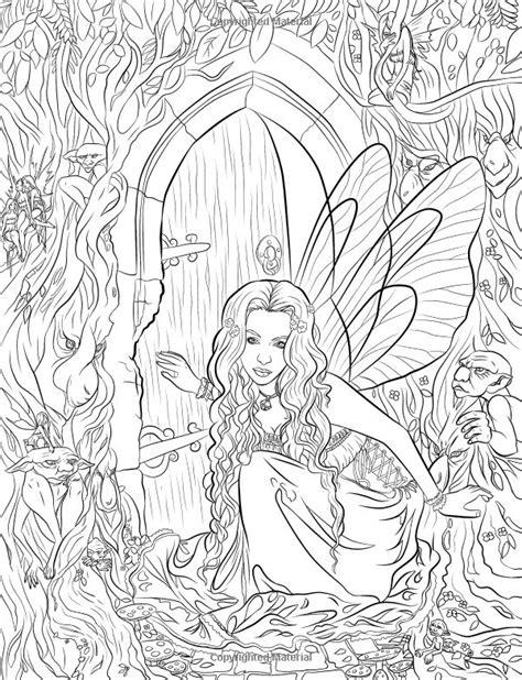 fairy companions coloring book artist selina fenech fantasy myth mythical mystical legend