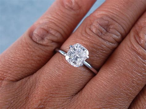 1 53 ct cushion cut solitaire engagement ring f si2