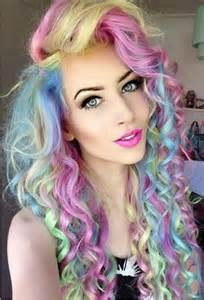 colorful hair colorful pastel curls pictures photos and images for