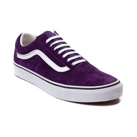 purple mens sneakers mens shoes vans skool suede skate shoe purple