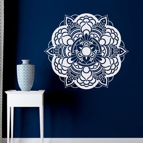 Tokomonster Lotus Flower 6 Wall Decal Sticker Size 23 mandala wall decal studio vinyl sticker lotus flower ornament moroccan pattern namaste