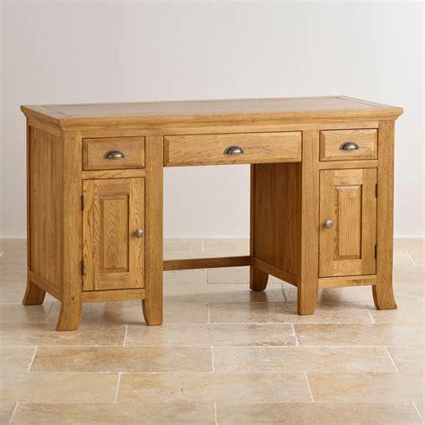 oak furniture land computer desk taunton computer desk in rustic solid oak oak furniture land