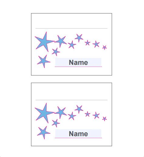 7 Place Card Templates Sle Templates Place Card Templates 6 Per Page