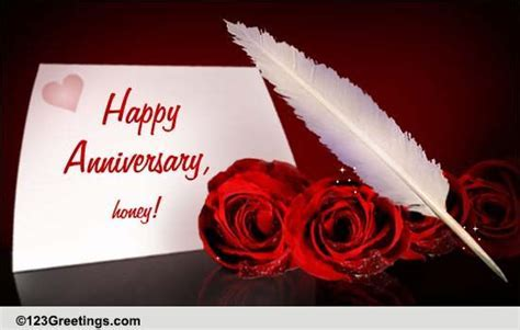 Happy Wedding Anniversary, Honey! Free For Him eCards