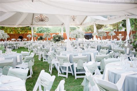 backyard tent wedding reception outdoor tent reception with chandeliers elizabeth anne designs the wedding blog