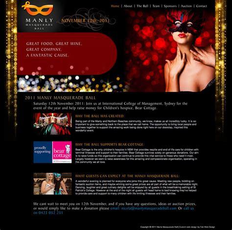 Fab Site Daszigncom by Website Design For Manly Masquerade Gt Fab Web Design