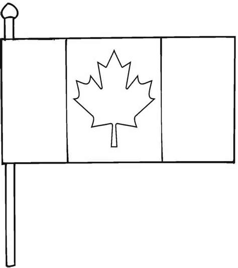 Printable Canadian Flag To Color Clipart Best Canada Flag Template