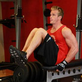 bench leg pull in seated flat bench leg pull in exercise videos guides
