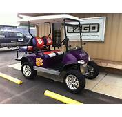 Clemson Custom Cart Gas  Our Themed Golf Carts Pinterest