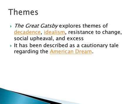 theme of society in the great gatsby the great gatsby notes