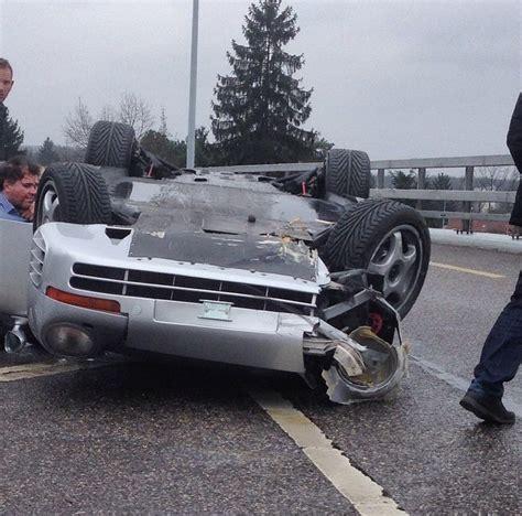porsche 959 crash update porsche 959 flips in geneva crash