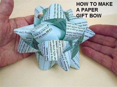 How To Make A Present Out Of Paper - newspaper gift bow 183 how to make a gift bow 183 papercraft