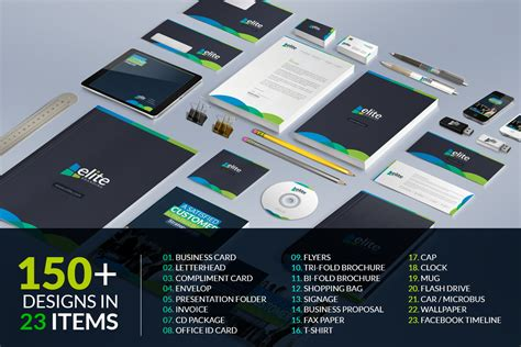 Business Cards Psd Templates Mega Pack by Business Branding Bundle Corporate Identity Template 66478