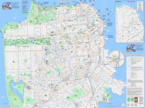san francisco map to print maps update 21051488 sf tourist attractions map san