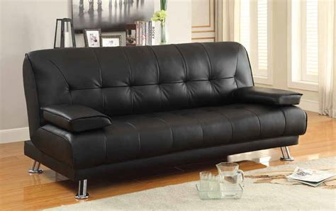 coaster  black leather sofa bed steal  sofa furniture outlet los angeles ca