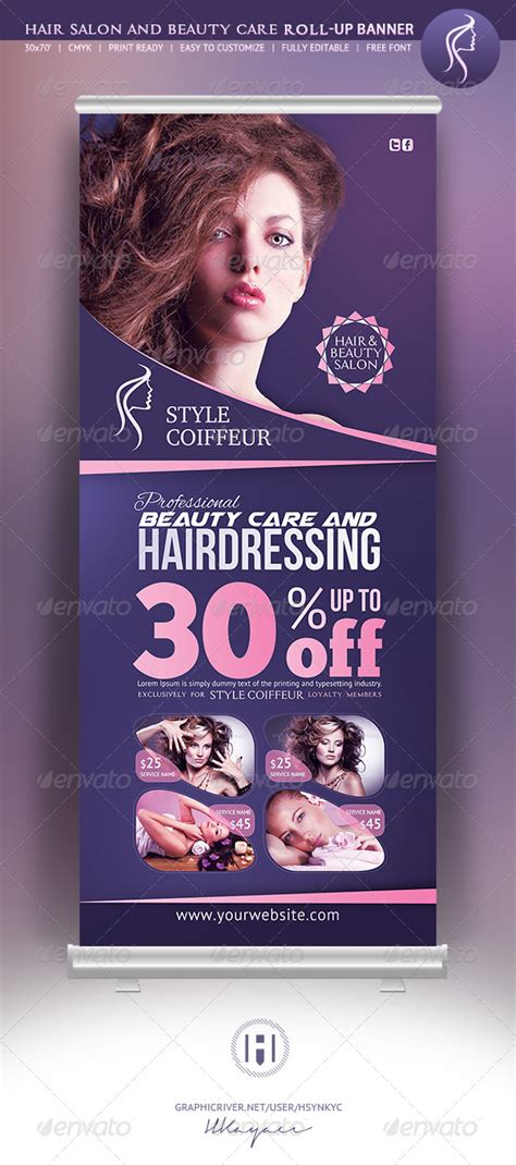 hair beauty rollup banner  hsynkyc graphicriver