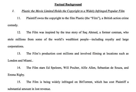 law suites plastic the movie lawsuits in florida