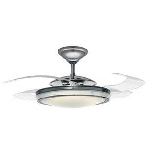48 Ceiling Fan Without Light Shop Fanaway Retractable Blade 48 In Brushed Chrome