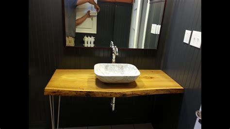 diy pintrest bathroom makeover   edge counter top