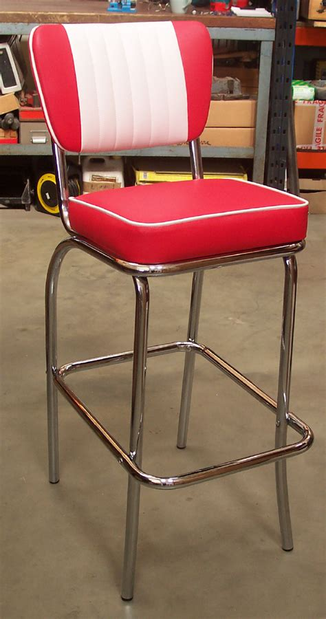 50s Style Bar Stools by American 50s Style Diner Bar Stools Bs40 Diner Bar Stool