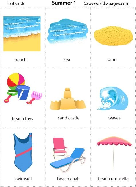 printable flashcards esl free printable summer flashcards seasons les saisons
