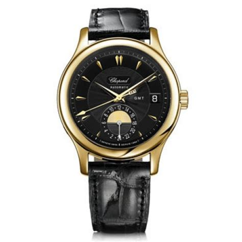 Chopard Leather 1 chopard l u c classic gmt black black leather s 161867 0001 l u c chopard