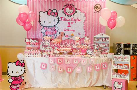 rose theme kitty party hello kitty sweets delight