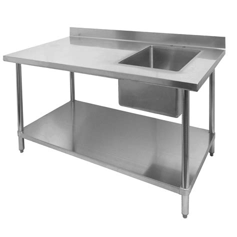 commercial prep table with sink stainless steel prep tables gsw