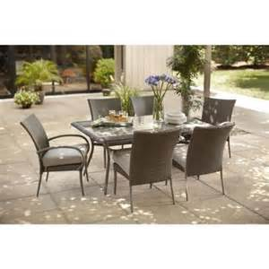 Hton Bay Patio Dining Set Hton Bay Posada 7 Patio Dining Set With Gray Cushions Dining Sets Umbrellas And