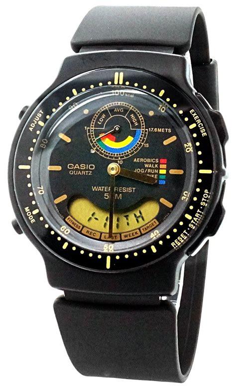 casio aw 60 1ev montre homme quartz analogique et digitale alarme bracelet caoutchouc