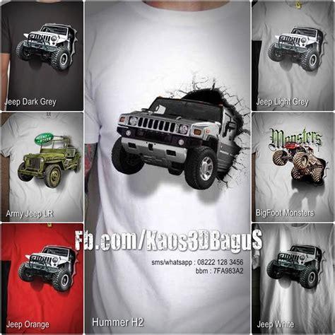 Kaos 3d Mobil Jeep Hijau Muda kaos jeep kaos offroad kaos land rover kaos 3d kaos 3d bagus